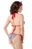 Vintage-Bikini im Marine-Look