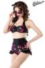 Vintage-Bikini mit Kirschmuster