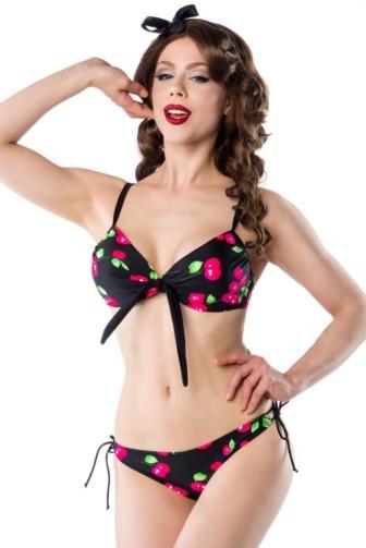 3-teiliges Vintage-Bikini-Set mit Rock