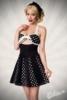 Godet-Kleid mit Schleife
