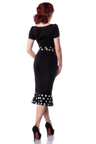 Jersey-Kleid mit Puffärmeln