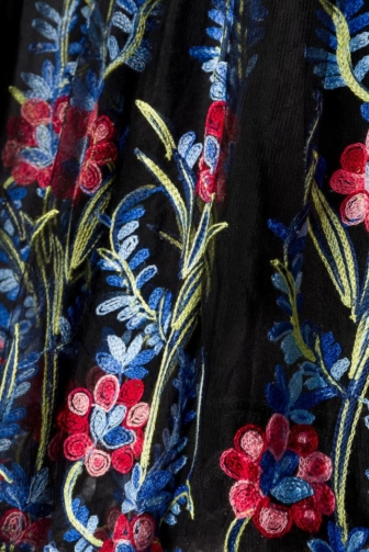 Belsira Premium besticktes Swing-Kleid