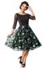 Premium besticktes Vintage-Swingkleid