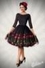 besticktes Premium Vintage Swingkleid