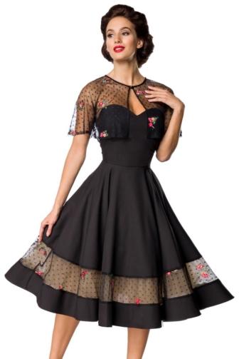Vintage-Kleid mit Cape